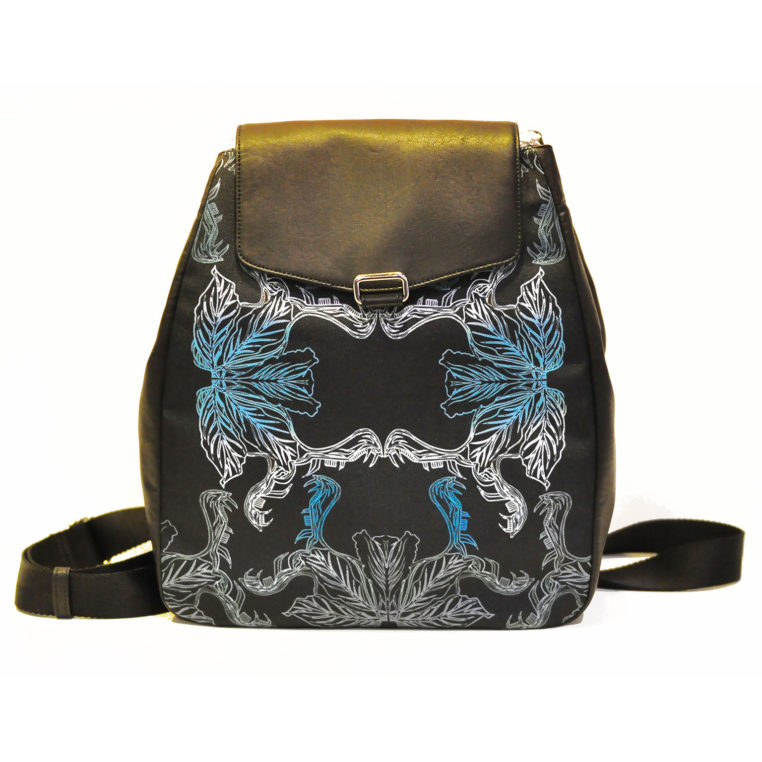 Windflower Backpack (canvas with faux leather)